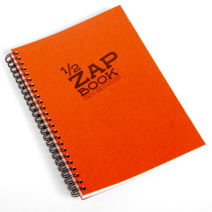 Bloc papier 1/2 Zap Book spiralé - 11 x 15 cm