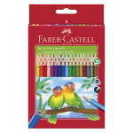 Crayons couleur triangulaire x 36 + taille crayon